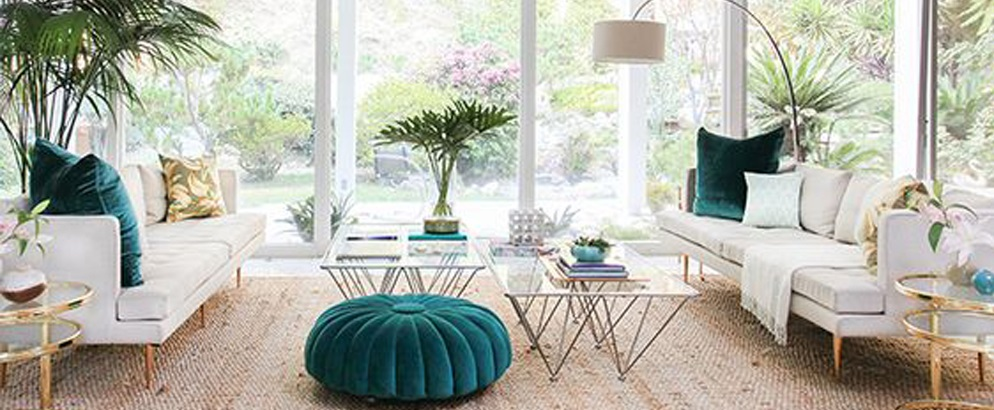 Spring decorating ideas in mid-century modern style