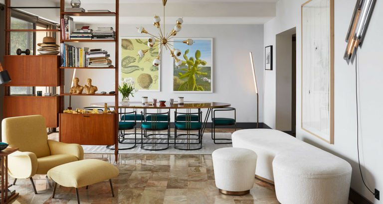 An Explosion of Mid-Century Modern Design in a Monaco Apartment mid-century modern design An Explosion of Mid-Century Modern Design in a Monaco Apartment An Explosion of Mid Century Modern Design in a Monaco Apartment feat 768x410