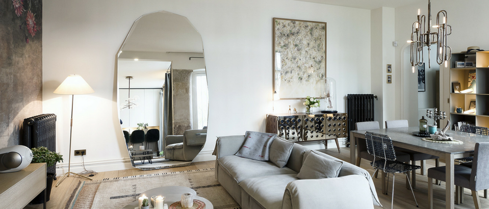 Parisian Inspiration- A Home Makeover and a Mid-Century Sideboard