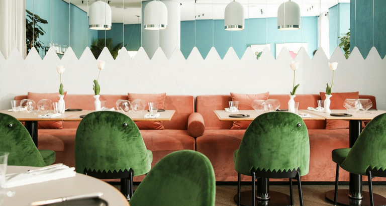 Stepping Inside Kaléo- A Dreamy Restaurant with Mid-Century Furniture