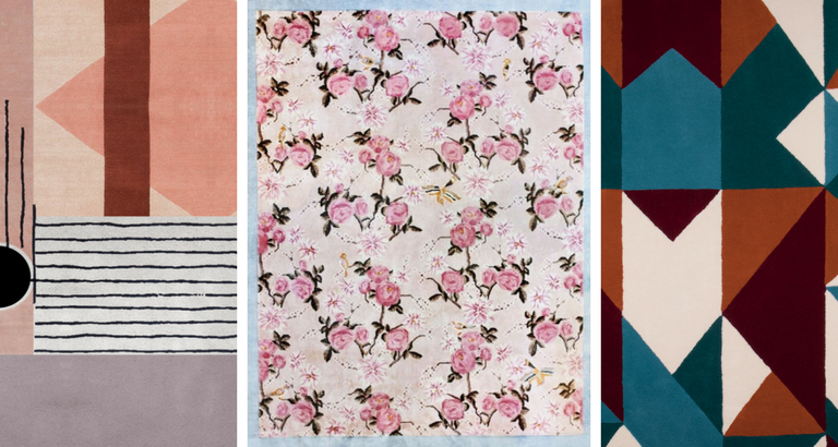 Floral and Geometric Rugs That Are Truly Instagram-Worthy_feat geometric rugs Floral and Geometric Rugs That Are Truly Instagram-Worthy Floral and Geometric Rugs That Are Truly Instagram Worthy feat 768x410