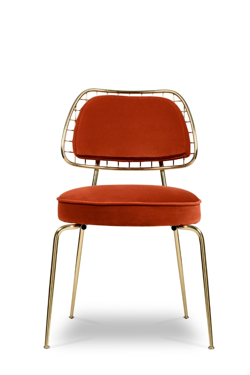 These Orange Dining Chairs Will Convince You to Go Mid-Century_1 orange dining chairs These Orange Dining Chairs Will Convince You To Go Mid-Century These Orange Dining Chairs Will Convince You to Go Mid Century 2
