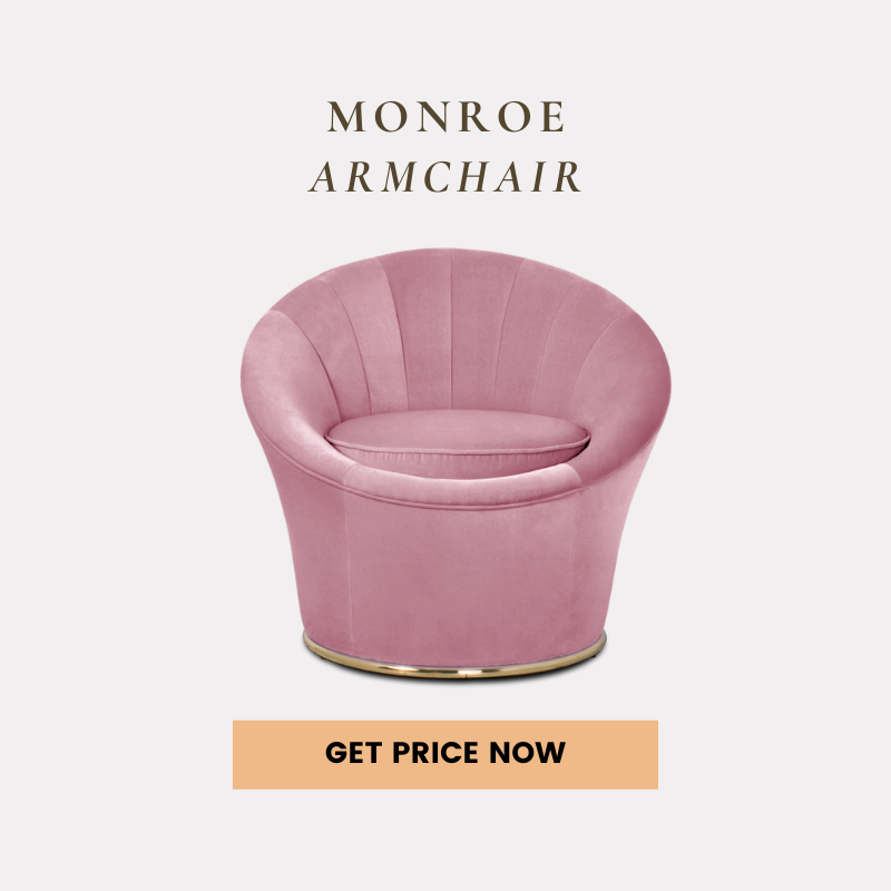 pink home decor 10 Colors That Work Perfectly With Pink Home Decor monroe armchair get price