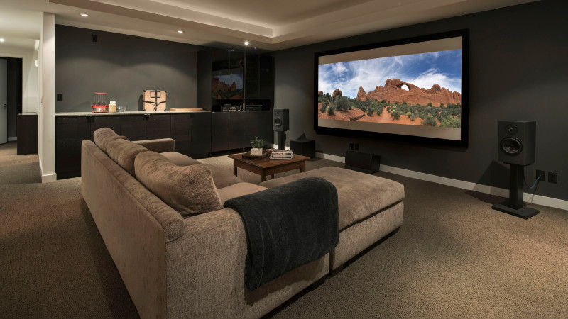 How to build a Home theater in 5 steps! home theater How to Build a Home Theater in 5 Easy Steps! movie playing on projection screen in home theater 915093896 5bdb7eb0c9e77c0026d2970f