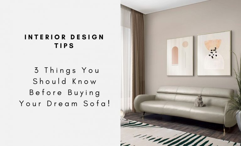 Interior Design Tips - 3 Things You Should Know Before Buying Your Dream Sofa! interior design tip Interior Design Tips – 3 Things You Should Know Before Buying Your Dream Sofa! Interior Design Tips 3 Things You Should Know Before Buying Your Dream Sofacapa 768x466