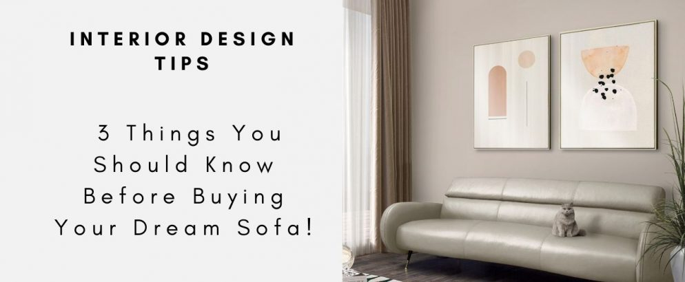 Interior Design Tips - 3 Things You Should Know Before Buying Your Dream Sofa! interior design tip Interior Design Tips – 3 Things You Should Know Before Buying Your Dream Sofa! Interior Design Tips 3 Things You Should Know Before Buying Your Dream Sofacapa 994x410