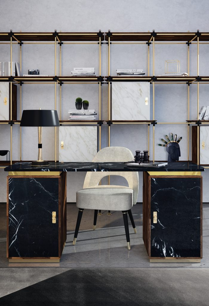 The 11 Luxury Desks That You'll Love In Your Home Office_1 luxury desks The 12 Luxury Desks That You'll Love In Your Home Office The 11 Luxury Desks That Youll Love In Your Home Office 1 700x1024