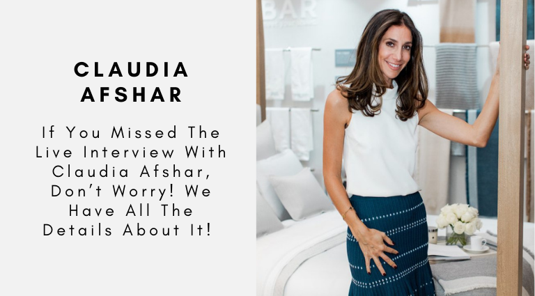 If You Missed The Live Interview With Claudia Afshar, Don't Worry! We Have All The Details About It! claudia afshar If You Missed The Live Interview With Claudia Afshar, Don't Worry! We Have All The Details About It! If You Missed The Live Interview With Claudia Afshar Dont Worry We Have All The Details About It