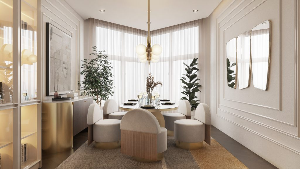 """This All-White Residential Project With """"Hollywood Glamour"""" Collection is Seriously Soothing! _1"""