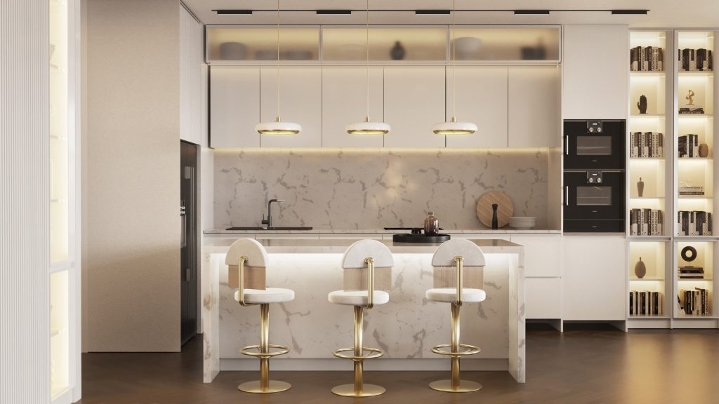"""This All-White Residential Project With """"Hollywood Glamour"""" Collection is Seriously Soothing! _5"""