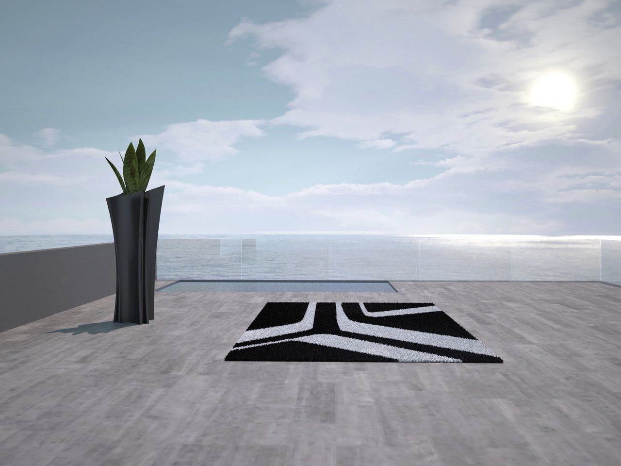 modern house THE BEST OUTDOOR RUGS FOR YOUR MODERN HOUSE Vondom Outdoor Rug 4 Moonbeam by A cero