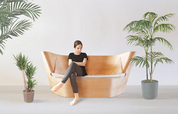 Wing-Sofa-by-Akos-Huber-1 sofa The Wing Sofa, a bent wood sofa Wing Sofa by Akos Huber 1