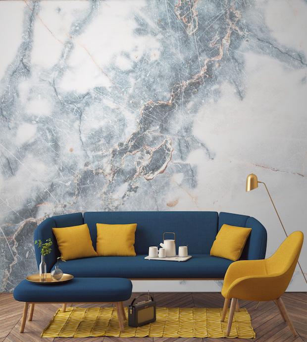 Murals-Wallpaper-Marble-3-Deep-Blue-Clouded-Print Marble Add Marble to your Wallpaper Murals Wallpaper Marble 3 Deep Blue Clouded Print
