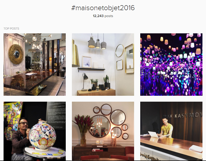 INSTAGRAM: THE BEST OF MAISON & OBJET 2016 d44b3f14aeaff017443d6d9b19614e60