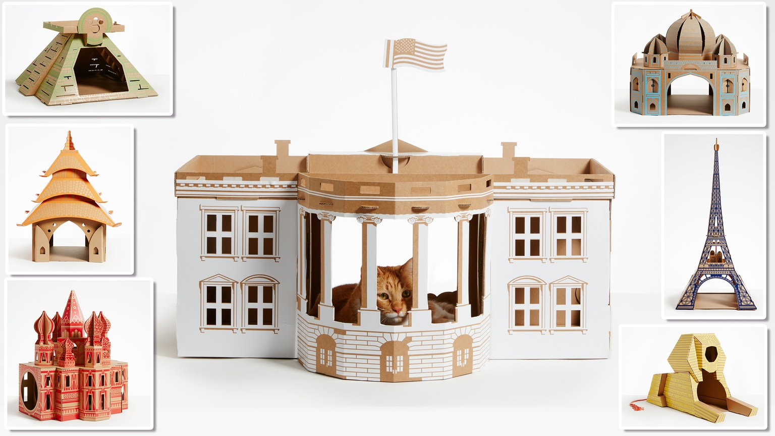 cardboard houses for cats cardboard Company creates cardboard houses for cats inspired architecture icons cardboard houses for cats