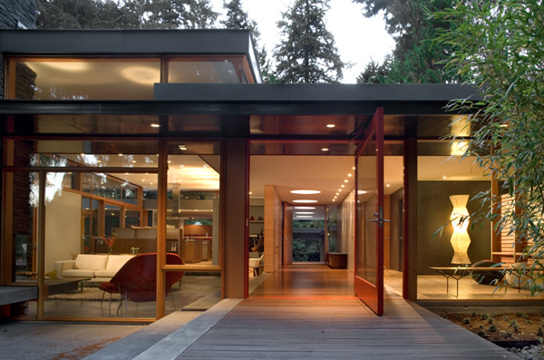 mid-century modern home Mid-Century modern home with a nature backdrop 1 21