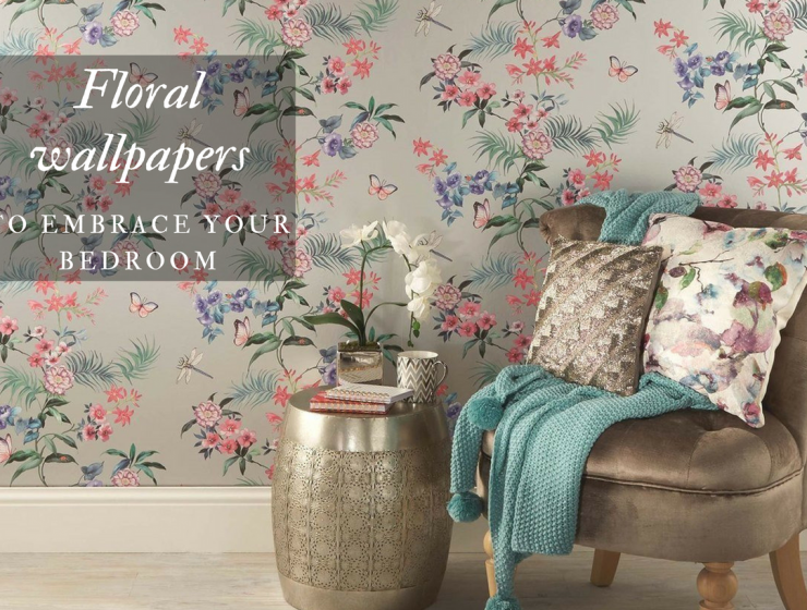 8 Floral Wallpapers that Will Bring the Outdoors Into your Living Room floral wallpapers 8 Floral Wallpapers that Will Bring the Outdoors Into your Living Room Floral wallpapers 740x560