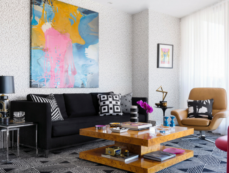 Geometric Patterns and Andy Warhol Meet in this Eclectic InteriorGeometric Patterns and Andy Warhol Meet in this Eclectic Interior eclectic interior Geometric Patterns and Andy Warhol Meet in this Eclectic Interior Untitled design 1 740x560