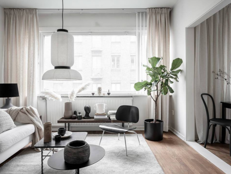 small modern apartment Small Modern Apartment With A Smart Layout And Neutral Colors capa 740x560