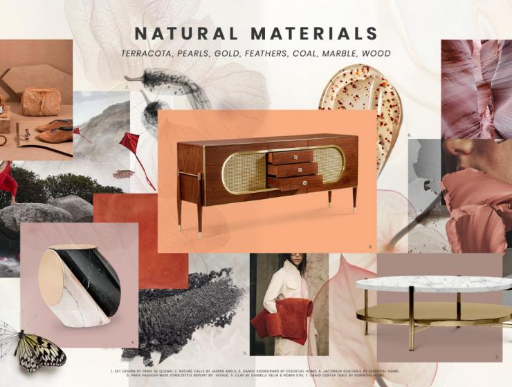 Moodboard Trends: Natural Materials natural materials Moodboard Trends: Natural Materials Inspirations cover 3 740x560