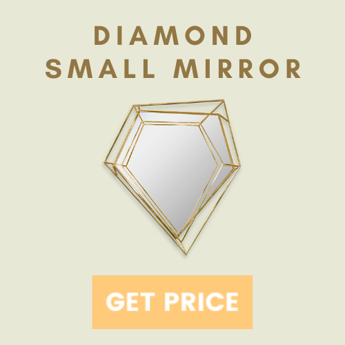 statement mirrors 6 Beautiful Ways To Use Statement Mirrors In Your Home diamond small mirror